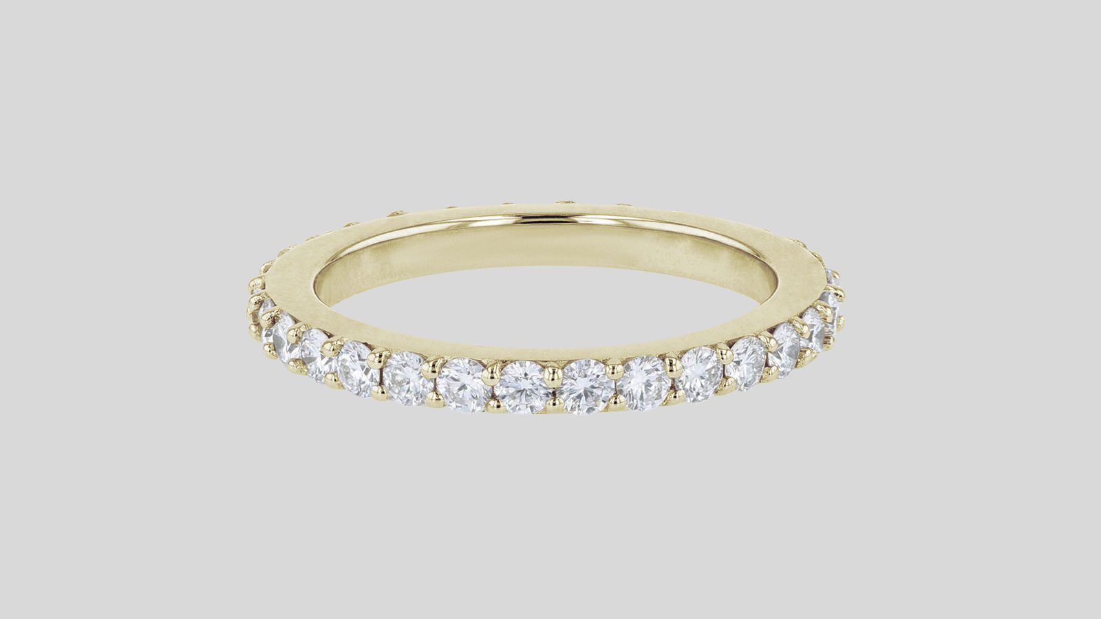 The Lab Grown One Carat Diamond Eternity Band Ring