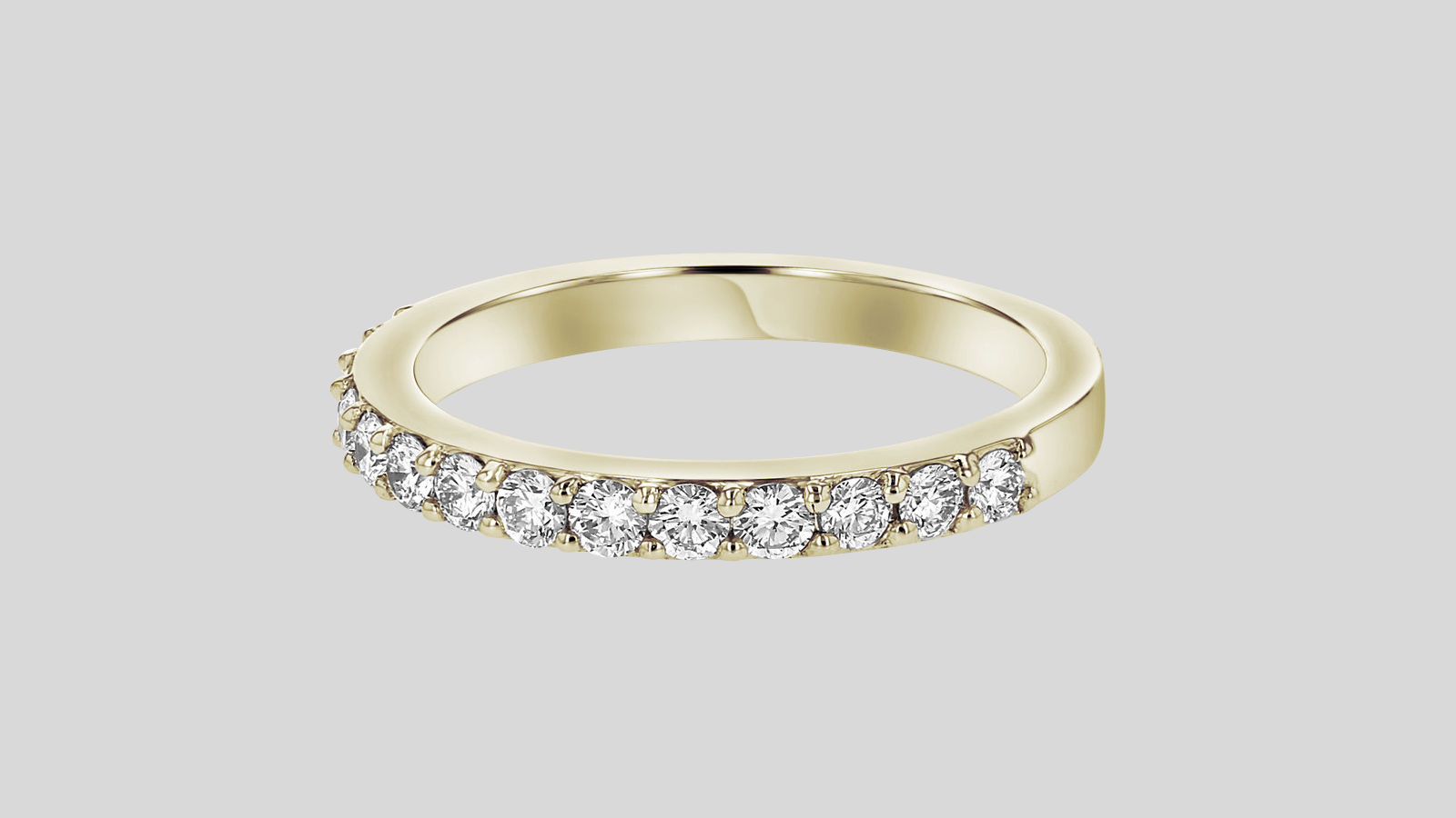 The Half Band Diamond Ring
