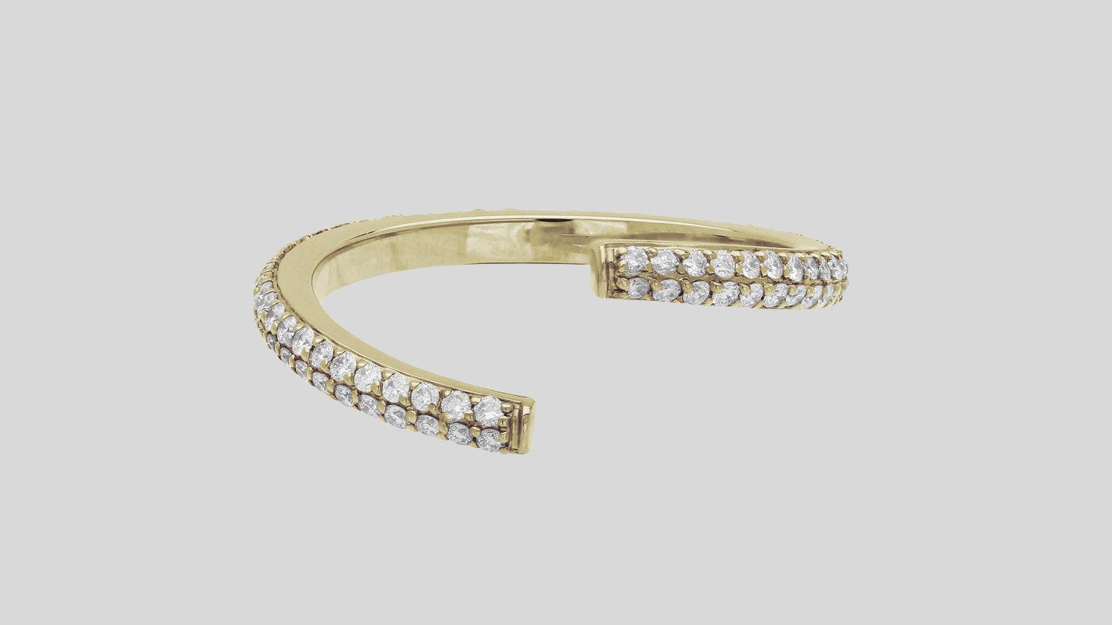 The Pavé Diamond Untraditional Ring