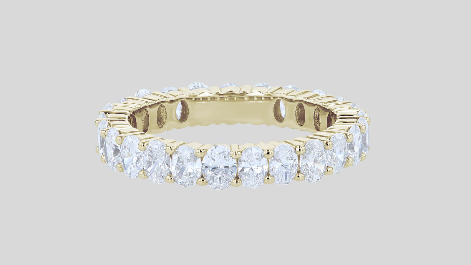Oval Cut Diamond Eternity Band Ring